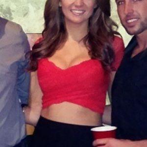 Bebe Red Lace Crop Top